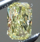 SOLD....Loose Yellow Diamond: .39ct Fancy Yellow VS1 Radiant Cut Tall Beauty R4838