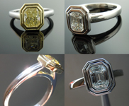 Semi Mount Ring: Custom Double Bezel Ring SO3379