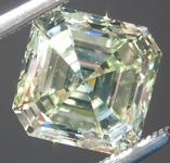 Greenish Yellow Diamond: 3.00ct Fancy Light Greenish Yellow VS2 Asscher Cut GIA Rare Beauty R4857