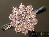 SOLD......Argyle Pink Diamond Ring: .45ct Fancy Light Pink Argyle GIA Pink Diamond Halo Ring R4844