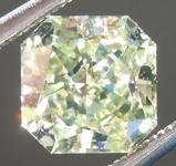 SOLD....Greenish Yellow Diamond: 1.30ct Fancy Light Greenish Yellow SI1 Radiant Cut GIA Cool Color R4854