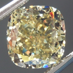 SOLD....Loose Cushion Cut Diamond: 2.03ct Fancy Brownish Greenish Yellow I1 Cushion Cut GIA Great Value R4860