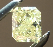 SOLD....Yellow Diamond: .30ct Fancy Yellow I1 Radiant Cut GIA Great Value R4885