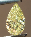 SOLD....Loose Yellow Diamond: .36ct Fancy Yellow SI2 Pear Shape GIA Great Cut R4891
