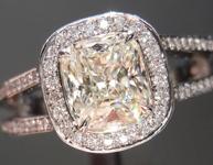 1.10ct K VS1 Cushion Cut Diamond Ring R4926