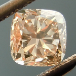 SOLD.....Loose Brown Diamond: .47ct Fancy Light Brown SI2 Cushion Cut Hint of Pink? R4796