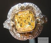 SOLD... 2.02ct Intense Yellow VS1 Cushion Cut Diamond Ring GIA R5000