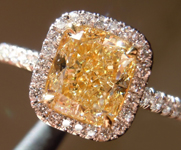 "SOLD...Yellow Diamond Halo RIng: 1.52ct U-V SI1 Cushion Cut GIA ""Uber"" Halo R5032"