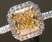 "SOLD.....Yellow Diamond: 1.62ct Y-Z VVS1 Radiant Cut GIA ""Uber Halo"" R5050"