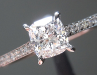 SOLD...Colorless Diamond Ring: .51ct D VVS1 Cushion Brilliant GIA Near Perfection R5041