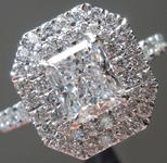 0.91ct D VS1 Radiant Cut Diamond Ring R5070