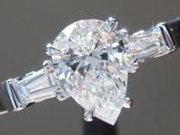 0.60ct G VVS1 Pear Shape Diamond Ring R5063
