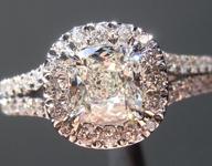 0.75ct J VS1 Cushion Cut Diamond Ring R5093
