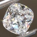 SOLD....Loose Colorless Diamond: .77ct E SI1 Cushion Cut GIA Eye Clean Beauty R5099