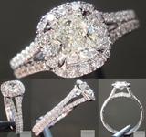 Split Shank Diamond Halo SO4917