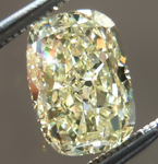 SOLD.....Loose Yellow Diamond: 1.51ct Fancy Light Yellow VS2 Cushion Cut GIA Cool Shape R4852