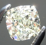 SOLD.... Loose Diamond: .45ct O-P VVS2 Cushion Cut GIA Cool Ivory Color R5100