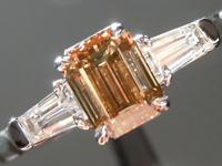 0.77ct Brown SI2 Emerald Cut Diamond Ring R5150