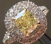SOLD.....93ct Yellow VS1 Cushion Cut Ring R5157