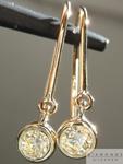 SOLD.... Yellow Diamond Earrings: .38cts U-V VS1 Round Brilliant Diamond Dangle Earrings R5120