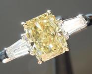0.77ct Fancy Yellow VVS1 Radiant Cut Diamond Ring R4526
