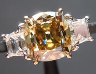 1.52ct Deep Brownish Yellow SI2 Old Mine Brilliant Diamond Ring R5166