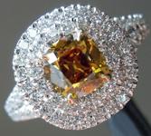 SPECIAL! 0.76ct Orangy Yellow VS1 Old Mine Brilliant Diamond Ring R5173
