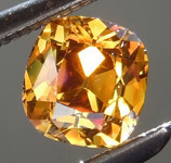 SOLD.... Old Mine Brilliant: .43ct Fancy Deep Brownish Orangy Yellow VS1 Branded DBL Modern Antique Diamond GIA R5177