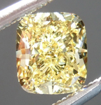 SOLD.... Loose Yellow Diamond: .76ct Fancy Intense Yellow VS2 Cushion Cut GIA Lovely Shape R5206