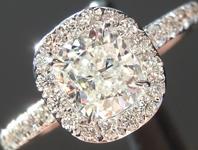 0.80ct J SI1 Cushion Cut Diamond Ring R5211