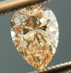 SOLD........Loose Brown Diamond: .46ct Fancy Light Yellow Brown SI1 Pear Shape R4830