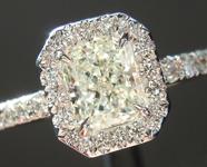 0.72ct J SI1 Radiant Cut Diamond Ring R5067