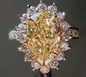 SOLD... 3.31ct W-X VS2 Pear Shape Diamond Ring GIA R5218
