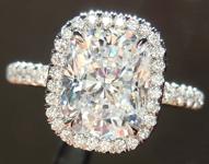 SOLD....2.12ct E SI1 Cushion Cut Diamond Ring GIA R5017