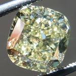 SOLD...Loose Diamond: 2.14ct Fancy Brownish Greenish Yellow SI1 Cushion Cut GIA R5225