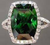 SOLD......Tourmaline Ring: 4.00ct Precision Cut Rectangular Cushion Chrome Tourmaline Halo Ring R3891
