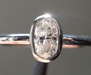 SOLD.....Colorless Diamond Ring: .37ct G VS2 Oval Shape Bezel Set Ring R5195