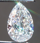 SOLD.....Loose Colorless Diamond: 1.38ct E Internally Flawless Pear Brilliant GIA Great Cut R5247