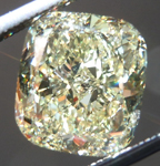 SOLD....Loose Yellow Diamond: 3.15ct Fancy Light Yellow VS1 Cushion Cut GIA Strong Color R5250