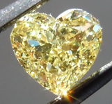 SOLD.....Loose Yellow Diamond: .60ct Fancy Yellow VS2 Heart Shape GIA Strong Color R5258
