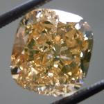 SOLD....Loose Diamond: 3.27ct Fancy Brown Yellow I1 Cushion Cut GIA Beautiful Shape R5267