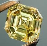 SOLD.... Loose Yellow Diamond: .50ct Fancy Intense Yellow VS1 Asscher Cut GIA Beautiful Steps R5278