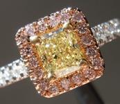 SOLD....0.62ct Yellow VS1 Radiant Cut Diamond Ring R5280