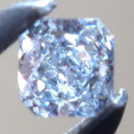 SOLD....Loose Blue Diamond: .08ct Fancy Light Blue VS1 Radiant Cut GIA Great Brilliance R5285