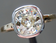 SOLD.... Diamond Ring: 1.22ct M VS2 Old Mine Brilliant Bezel Set Ring Trade In Special R5276