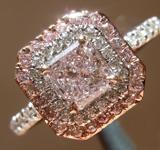 SOLD.....Purple Diamond Ring: .55ct Fancy Light Pinkish Purple I1 Radiant Cut GIA Double Halo R5302