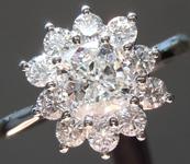 SOLD...Colorless Diamond Ring: .74ct D VVS2 Cushion Cut GIA Princess Halo R5293