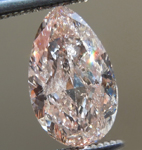 SOLD....Loose Pink Diamond: 1.07ct Fancy Brown-Pink SI2 Pear Shape GIA Lovely Color R5339