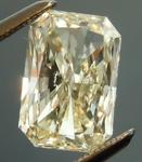 SOLD.... Loose Yellow Diamond: 1.43ct Q-R VS2 Radiant Cut GIA Unusual Cut R4781