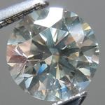 SOLD.....Loose Gray Diamond: .77ct Fancy Light Gray SI1 Round Brilliant GIA Rare Beauty R5345